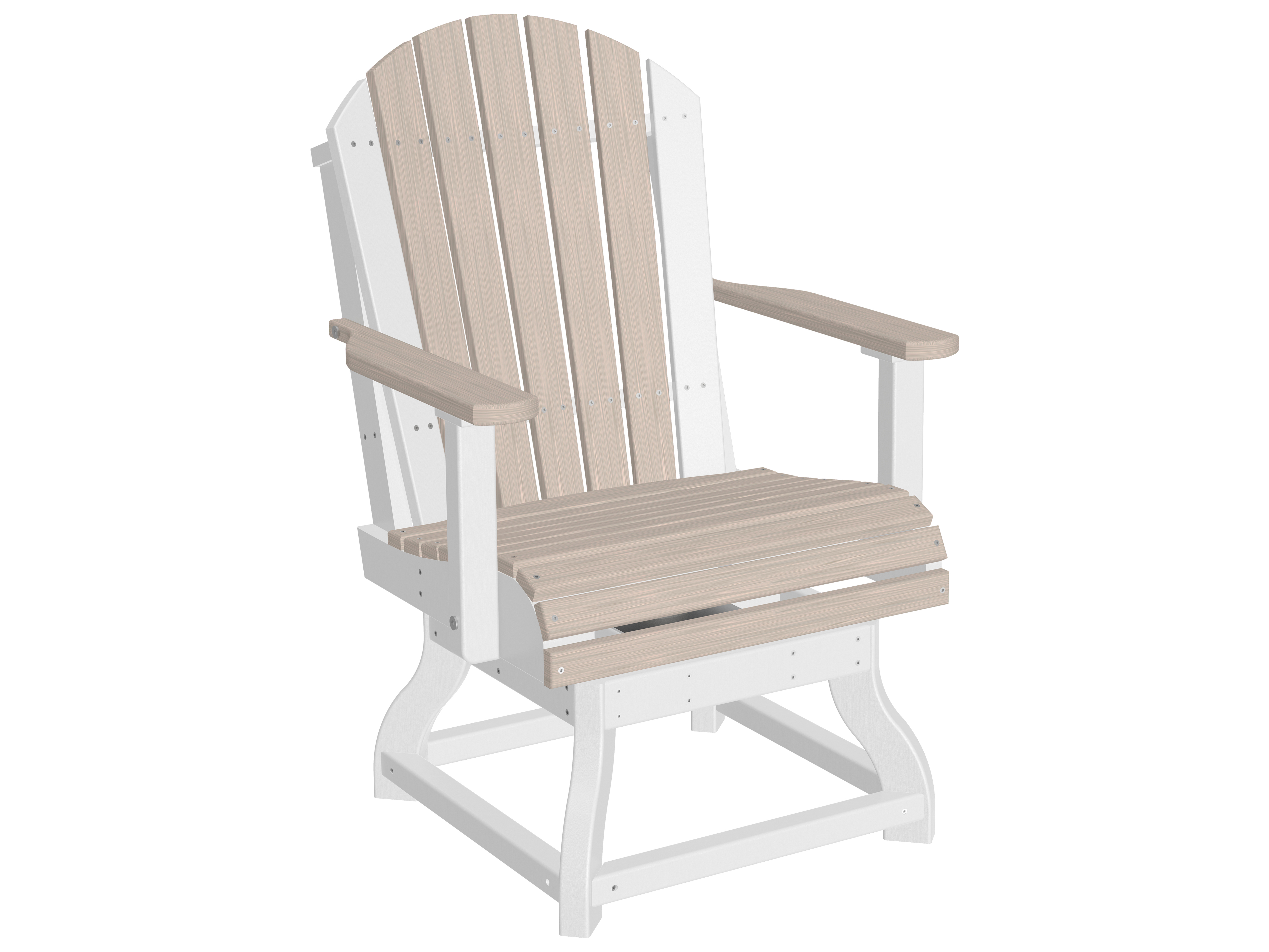 Luxcraft recycled plastic adirondack swivel dining height chair luxpascdining - Chaise adirondack plastique recycle costco ...