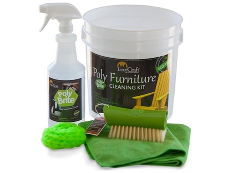 LuxCraft Recycled Plastic Poly Brite Cleaning Kit