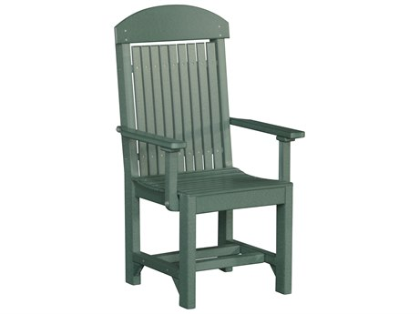 LuxCraft Recycled Plastic Captain Dining Height Chair