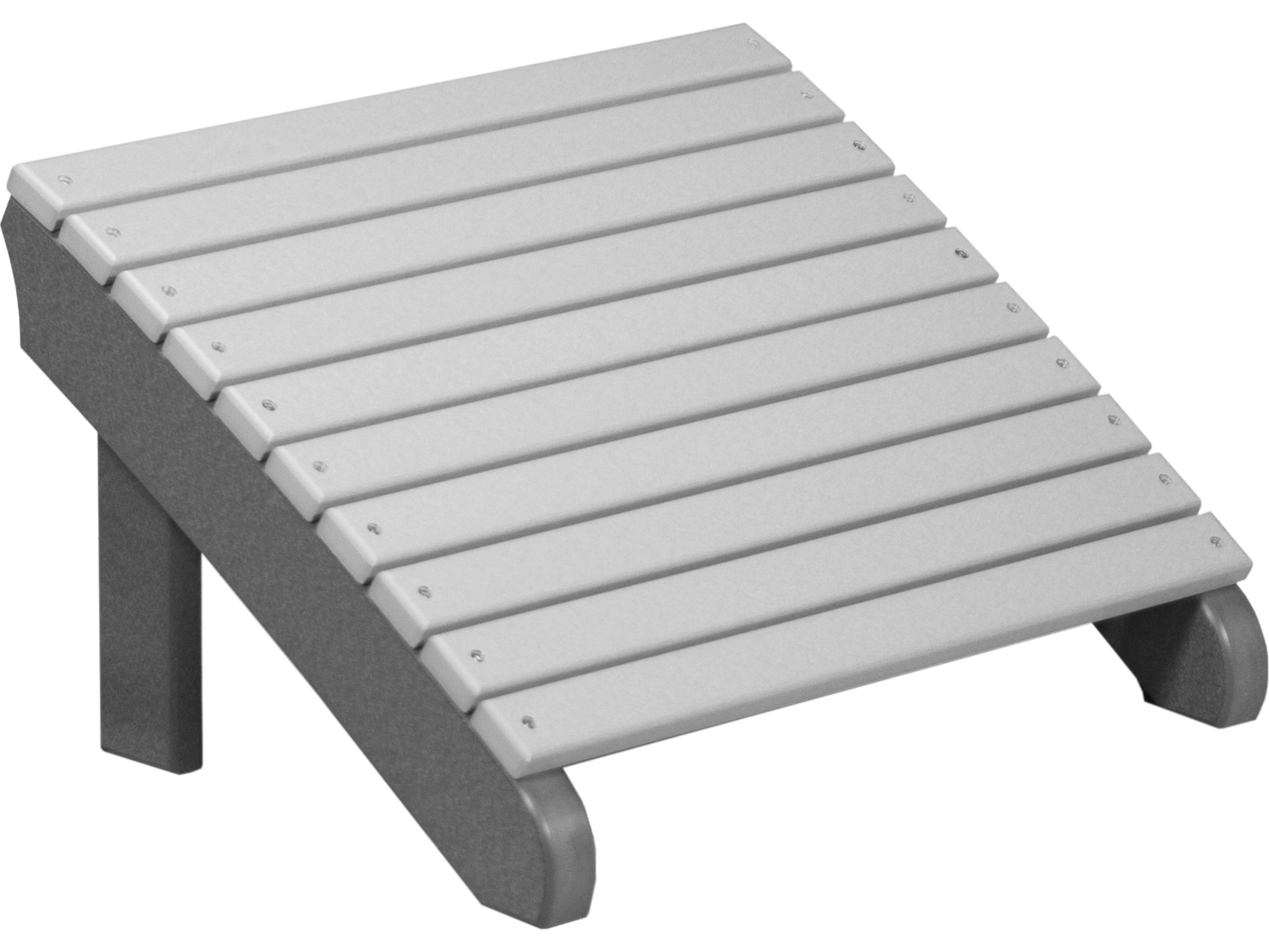 Luxcraft recycled plastic deluxe adirondack footrest pdaf - Plastic adirondack footrest ...