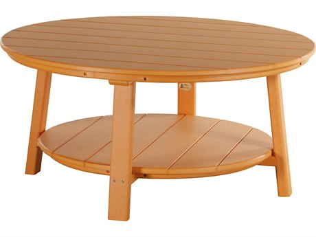 LuxCraft Recycled Plastic 43 Round Deluxe Conversation Table LUXPDCT
