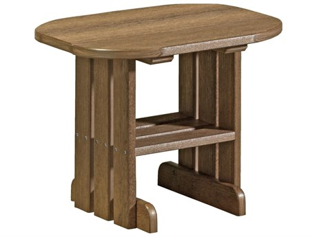 LuxCraft Recycled Plastic 24 x 16.5 Oval End Table