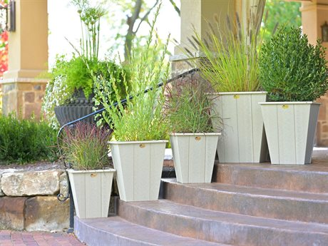 LuxCraft Poly Accessories Recycled Plastic Planter Set