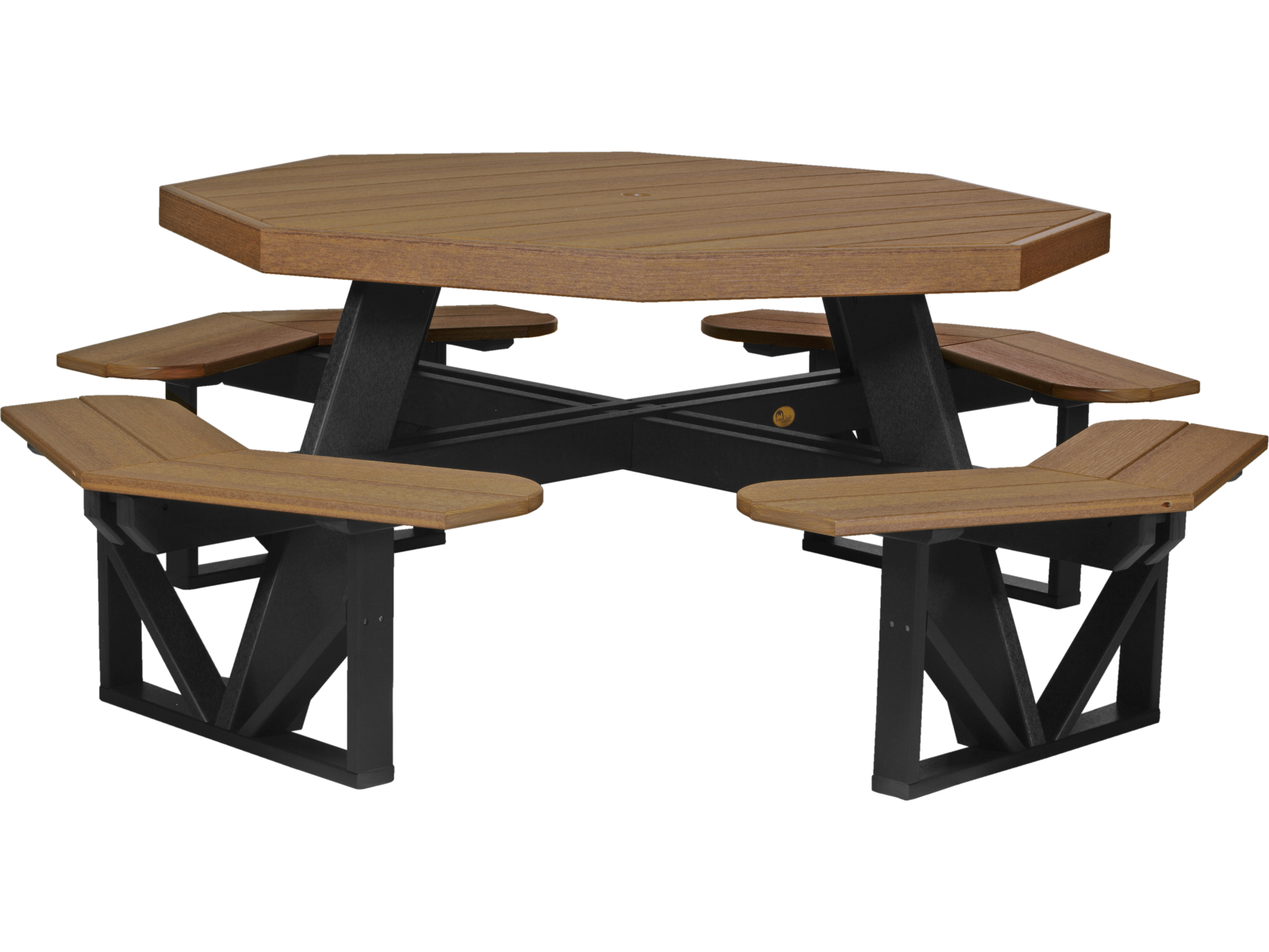 Awe Inspiring Luxcraft Recycled Plastic 86 5 Octagon Picnic Table With Umbrella Hole Download Free Architecture Designs Oxytwazosbritishbridgeorg