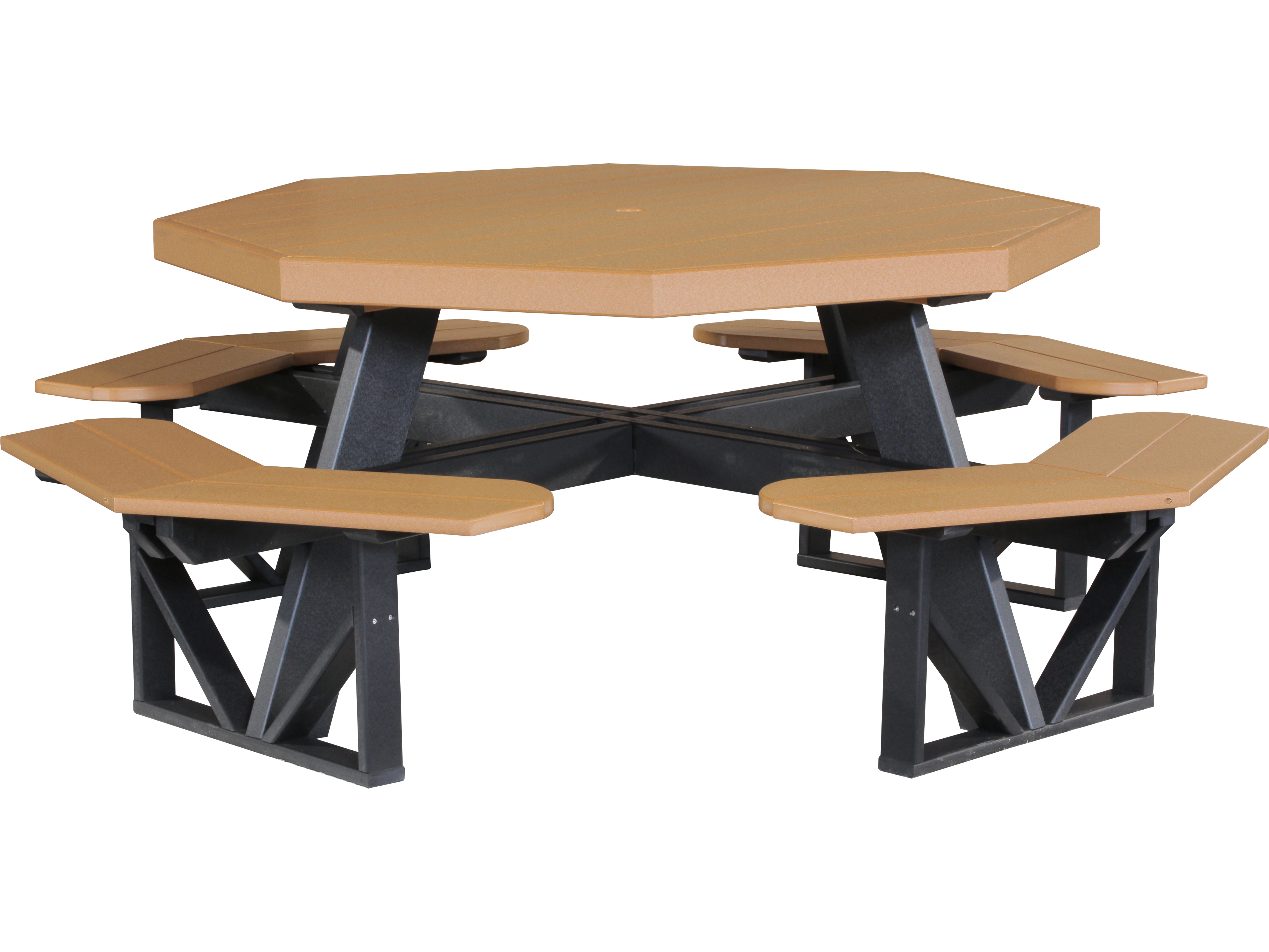 Luxcraft Recycled Plastic 86 5 Octagon Picnic Table With