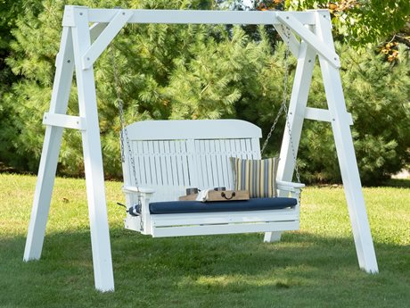 LuxCraft Classic Poly Swing Set
