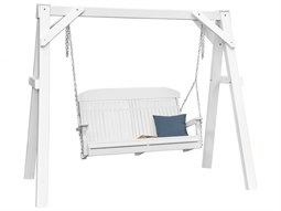LuxCraft Recycled Plastic A-Frame Vinyl Swing Stand - White