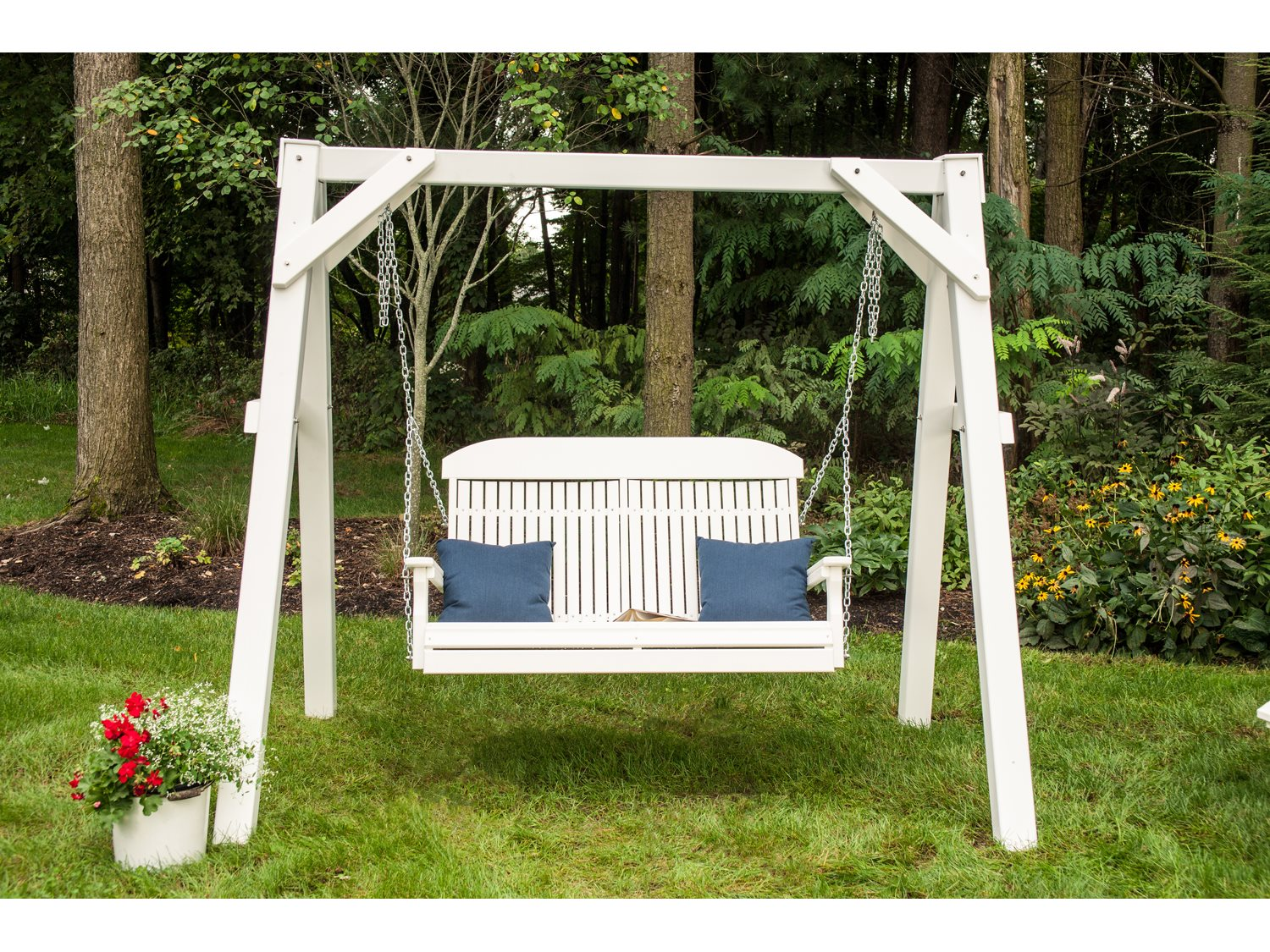 Luxcraft Recycled Plastic A Frame Vinyl Swing Stand