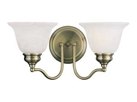 Livex Lighting Essex Antique Brass Two-Light Vanity Light