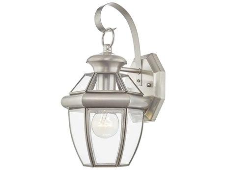 Livex Lighting Monterey Brushed Nickel Outdoor Wall Light