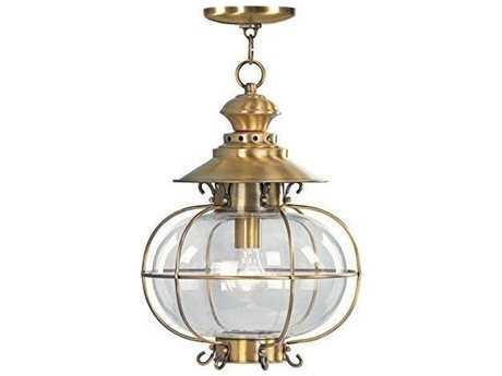 Livex Lighting Harbor Flemish Brass Outdoor Ceiling Light