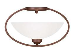 Livex Lighting Somerset Vintage Bronze 16'' Wide Semi-Flush Mount Light