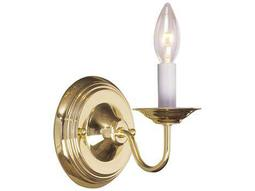 Livex Lighting Williamsburg Polished Brass Wall Sconce