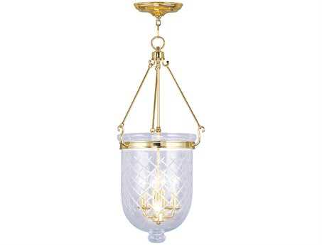 Livex Lighting Jefferson Polished Brass Four-Light 14'' Wide Pendant Light