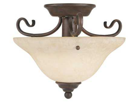 Livex Lighting Coronado Imperial Bronze 13'' Wide Semi-Flush Mount Light