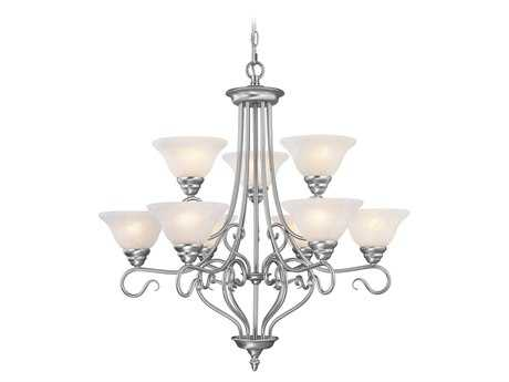 Livex Lighting Coronado Brushed Nickel Nine-Light 31'' Wide Chandelier