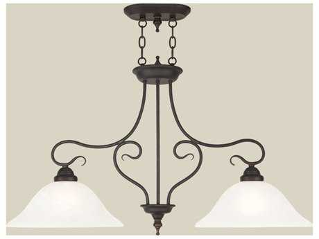 Livex Lighting Coronado Bronze Two-Light 13'' Wide Island Light