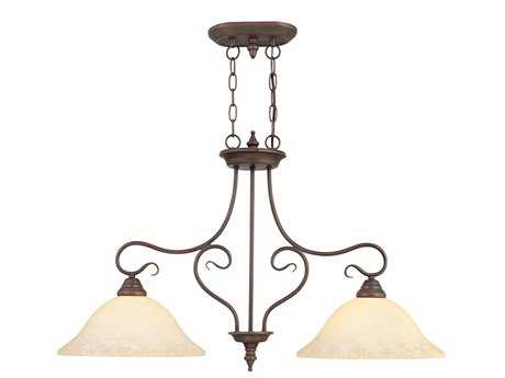 Livex Lighting Coronado Imperial Bronze Two-Light 13'' Wide Island Light