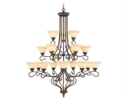 Livex Lighting Coronado Imperial Bronze 18-Light 44'' Wide Grand Chandelier