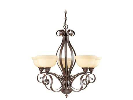 Livex Lighting Manchester Imperial Bronze Five-Light 28'' Wide Chandelier