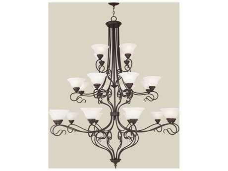 Livex Lighting Coronado Bronze 22-Light 56'' Wide Grand Chandelier