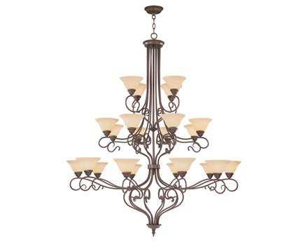 Livex Lighting Coronado Imperial Bronze 22-Light 56'' Wide Grand Chandelier