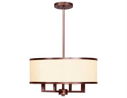 Livex Lighting Park Ridge Vintage Bronze Four-Light 18'' Wide Pendant Light