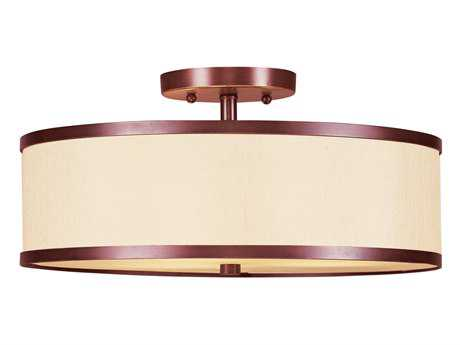Livex Lighting Park Ridge Vintage Bronze Two-Light 13'' Wide Semi-Flush Mount Light