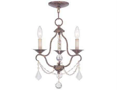 Livex Lighting Chesterfield Venetian Golden Bronze Three-Light 12'' Wide Chandelier