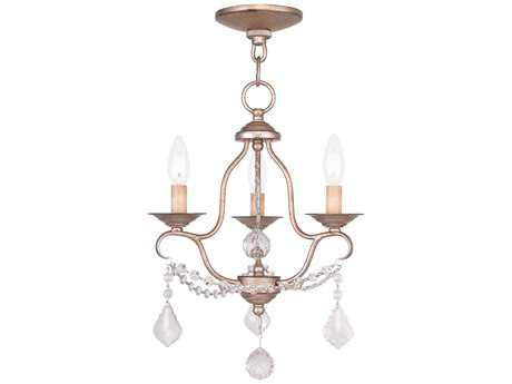 Livex Lighting Chesterfield Antique Silver Three-Light 12'' Wide Chandelier