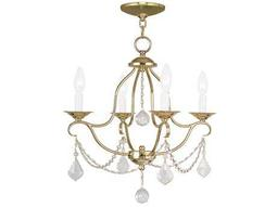 Livex Lighting Chesterfield Polished Brass Four-Light 18'' Wide Mini Chandelier