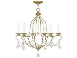 Livex Lighting Chesterfield Polished Brass Six-Light 25'' Wide Chandelier