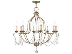 Livex Lighting Chesterfield Antique Gold Eight-Light 28'' Wide Chandelier