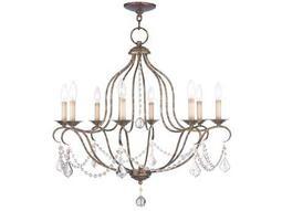 Livex Lighting Chesterfield Venetian Golden Bronze Eight-Light 28'' Wide Chandelier