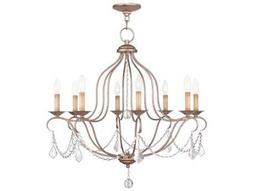 Livex Lighting Chesterfield Antique Silver Eight-Light 28'' Wide Chandelier