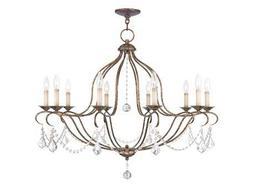 Livex Lighting Chesterfield Venetian Golden Bronze Ten-Light 36'' Wide Chandelier