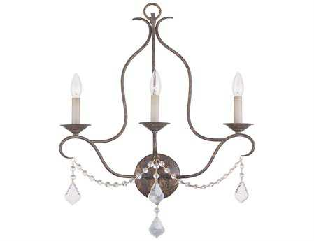 Livex Lighting Chesterfield Venetian Golden Bronze Three-Light Vanity Light