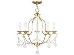 Livex Lighting Chesterfield Polished Brass Five-Light 22'' Wide Chandelier