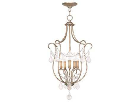 Livex Lighting Chesterfield Antique Silver Five-Light 16'' Wide Chandelier