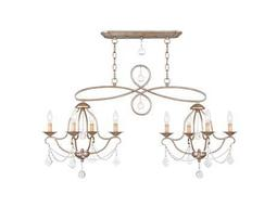 Livex Lighting Chesterfield Antique Silver Eight-Light 43'' Wide Chandelier