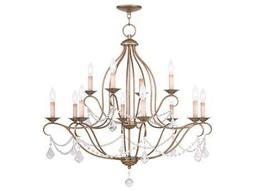 Livex Lighting Chesterfield Antique Gold 12-Light 34'' Wide Chandelier