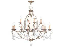 Livex Lighting Chesterfield Antique Silver 12-Light 34'' Wide Chandelier