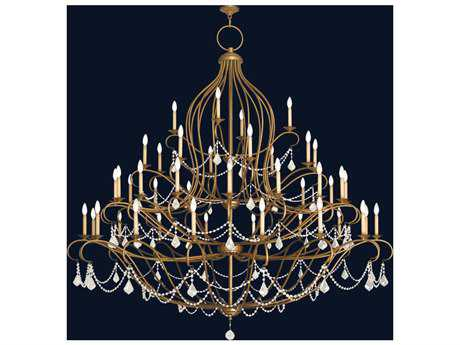 Livex Lighting Chesterfield Antique Gold Leaf 44-Light 79.5'' Wide Chandelier
