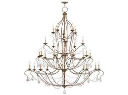 Livex Lighting Chesterfield Antique Gold 30-Light 60'' Wide Grand Chandelier