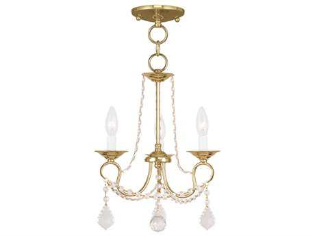 Livex Lighting Pennington Polished Brass Three-Light 13'' Wide Mini Chandelier