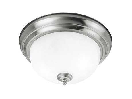 Livex Lighting Regency Brushed Nickel Two-Light 13'' Wide Flush Mount Light