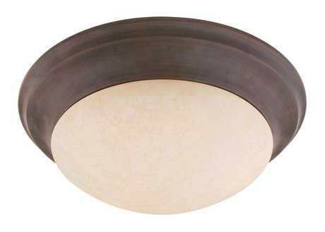 Livex Lighting Omega Imperial Bronze Three-Light 16.5'' Wide Flush Mount Light