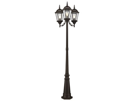 Livex Lighting Hamilton Bronze Three-Light Outdoor Post Light