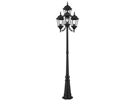Livex Lighting Hamilton Black Four-Light Outdoor Post Light