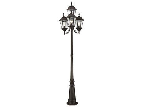 Livex Lighting Hamilton Bronze Four-Light Outdoor Post Light